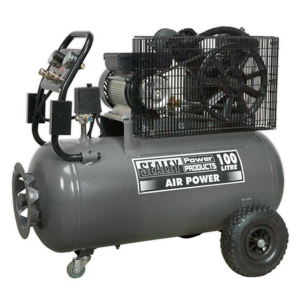 Sealey SAC3103B Compressor 100ltr Belt Drive 3hp with Front Control Panel Thumbnail 2