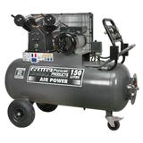 Sealey SAC3153B Compressor 150ltr Belt Drive 3hp with Front Control Panel