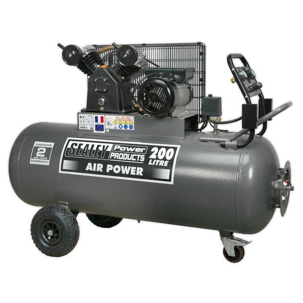 Sealey SAC3203B Compressor 200ltr Belt Drive 3hp with Front Control Panel Thumbnail 2