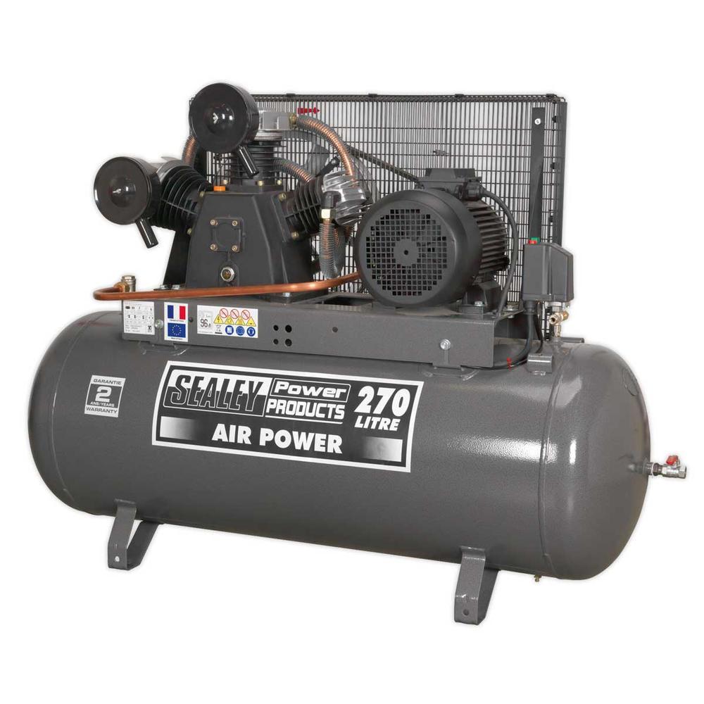 Sealey SAC32775B Compressor 270ltr Belt Drive 7.5hp 3ph