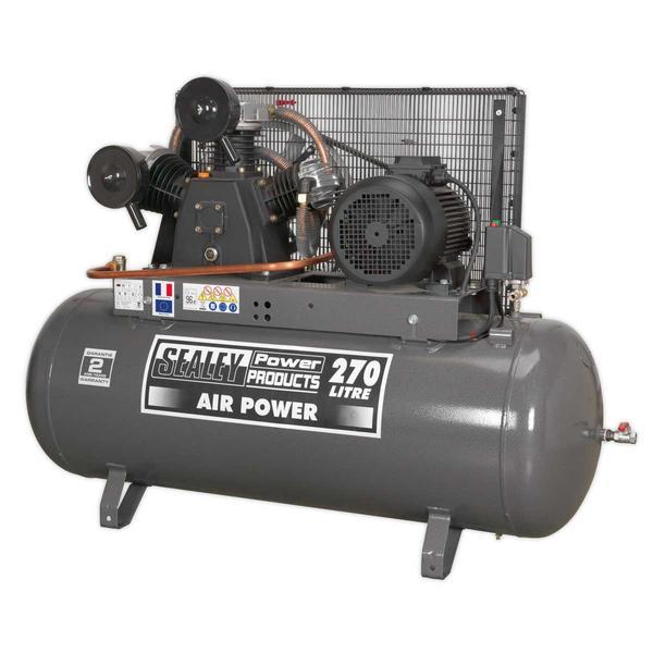 Sealey SAC32775B Compressor 270ltr Belt Drive 7.5hp 3ph Thumbnail 1