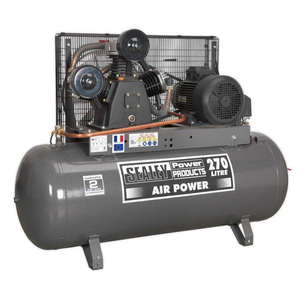 Sealey SAC32775B Compressor 270ltr Belt Drive 7.5hp 3ph Thumbnail 2
