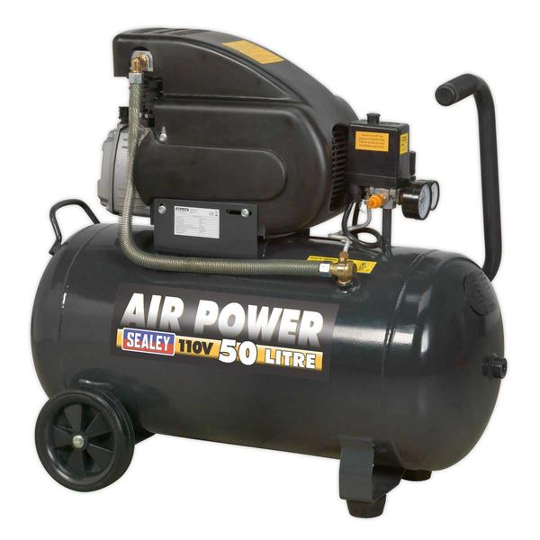 Sealey SAC5020E110V Air Compressor 50ltr Direct Drive 2hp 110V Thumbnail 2