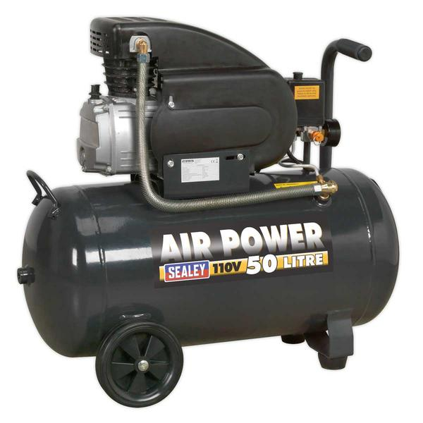 Sealey SAC5020E110V Air Compressor 50ltr Direct Drive 2hp 110V Thumbnail 1