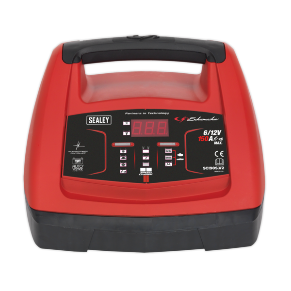 Sealey Starter 150Amp/Intelligent Speed Charge Battery Charger 20Amp 6/12V Thumbnail 2