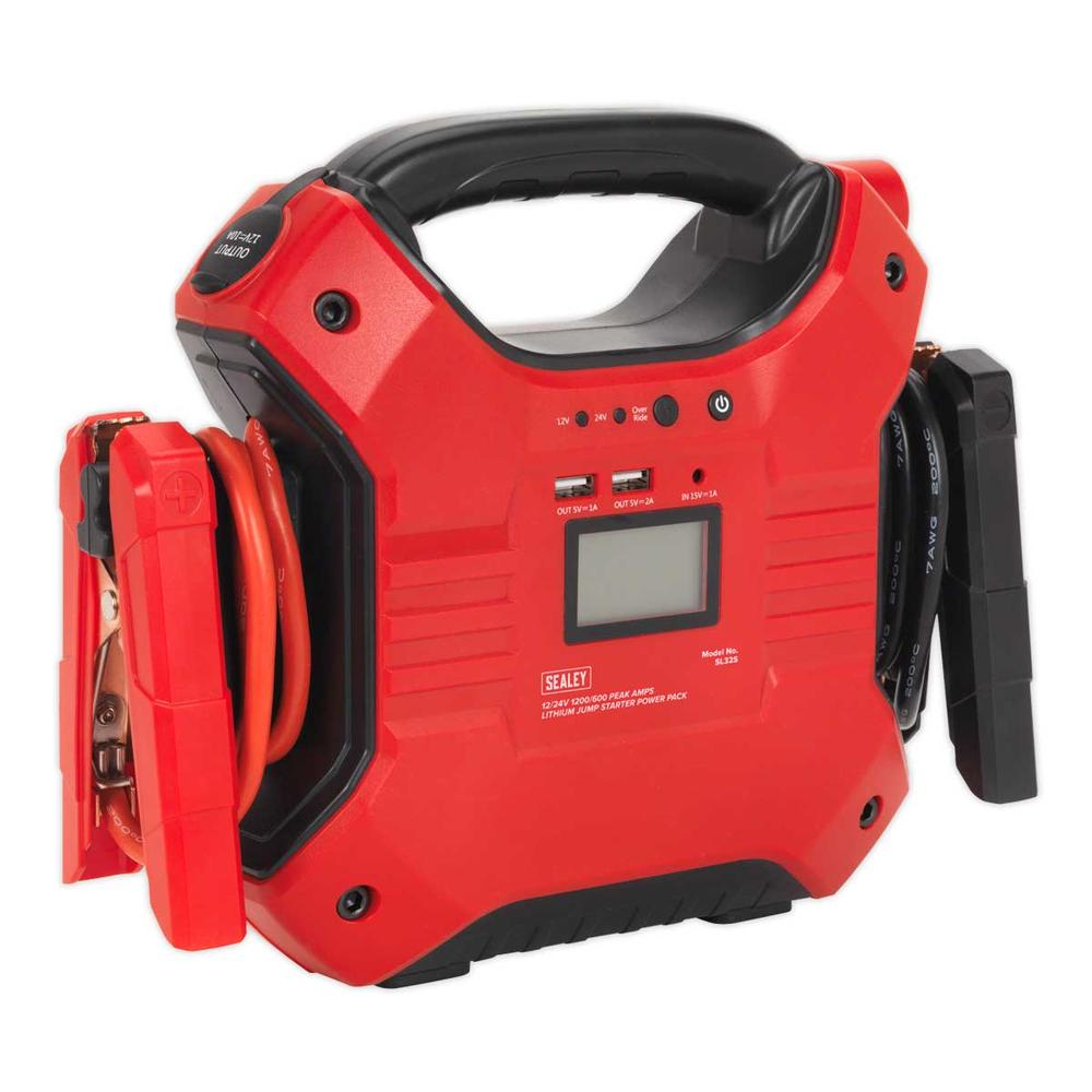 Sealey SL32S Jump Starter Power Pack Lithium Iron Phosphate 12/24V