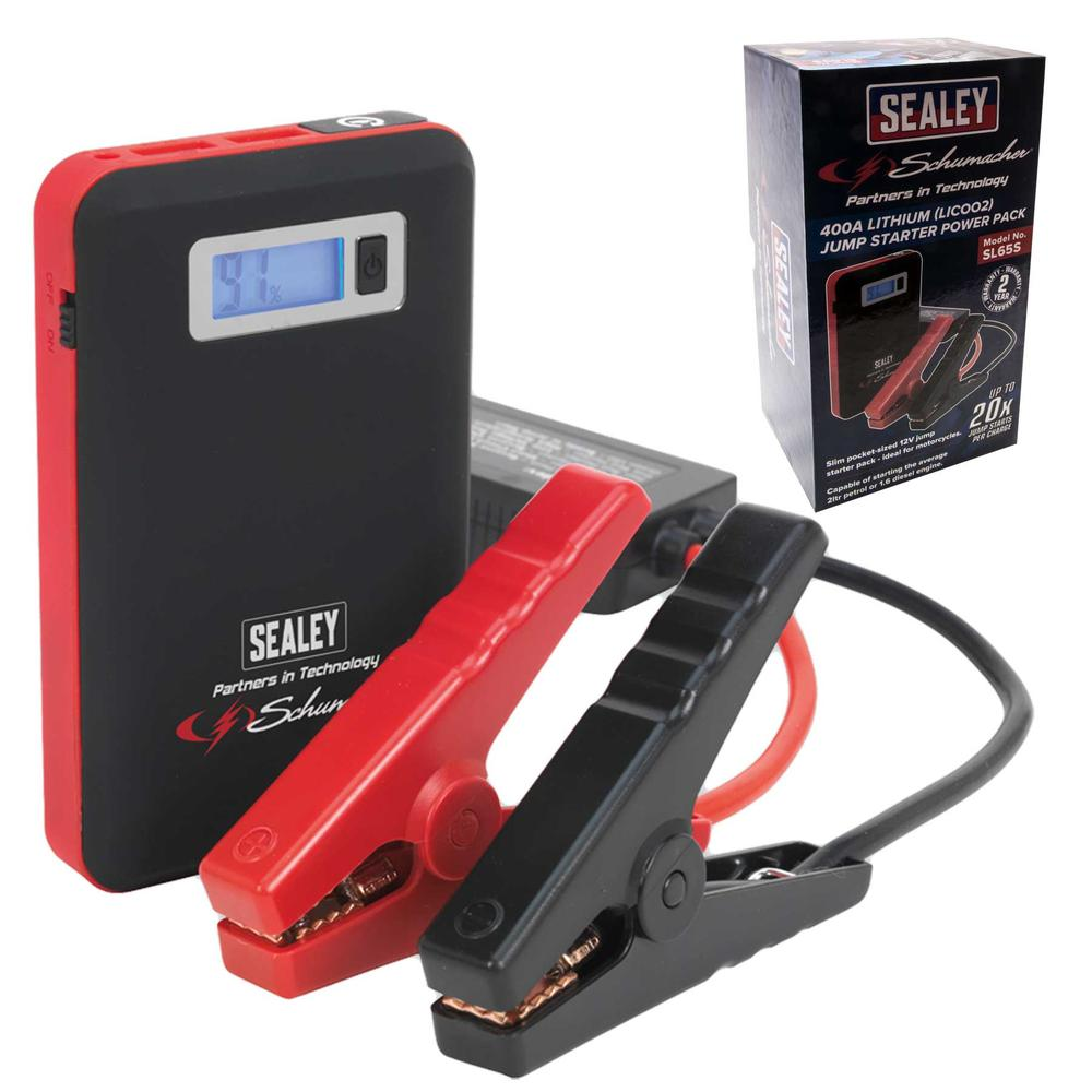 Sealey SL65S Jump Starter Power Pack Lithium (LiCoO2) 400A