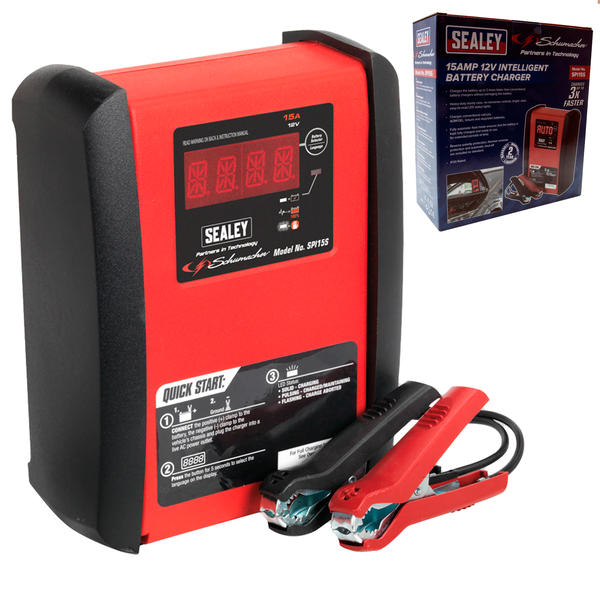 Sealey SPI15S Intelligent Speed Charge Battery Charger 15 Amp 12V Thumbnail 1