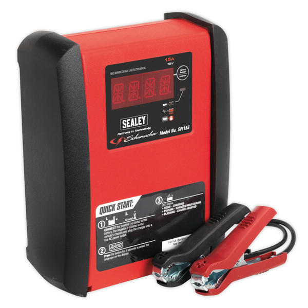 Sealey SPI15S Intelligent Speed Charge Battery Charger 15 Amp 12V Thumbnail 3