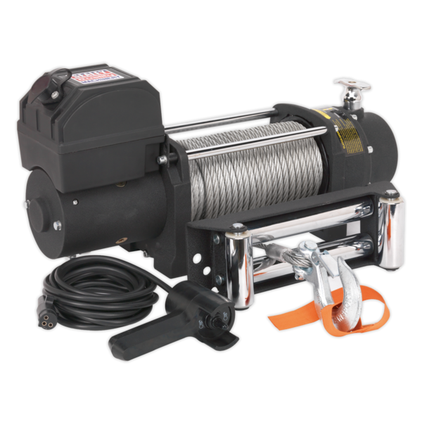 Sealey SRW4300 Self Recovery Winch 4300kg (9500lb) Line Pull 12V Thumbnail 1