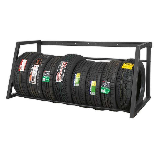 Sealey STR001 Extending Tyre Rack Wall or Floor Mounting Thumbnail 2
