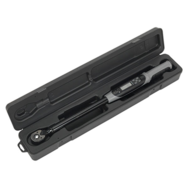 "Sealey STW306B Angle Torque Wrench Digital 1/2""Sq Drive 20-200Nm Black Series Thumbnail 2"