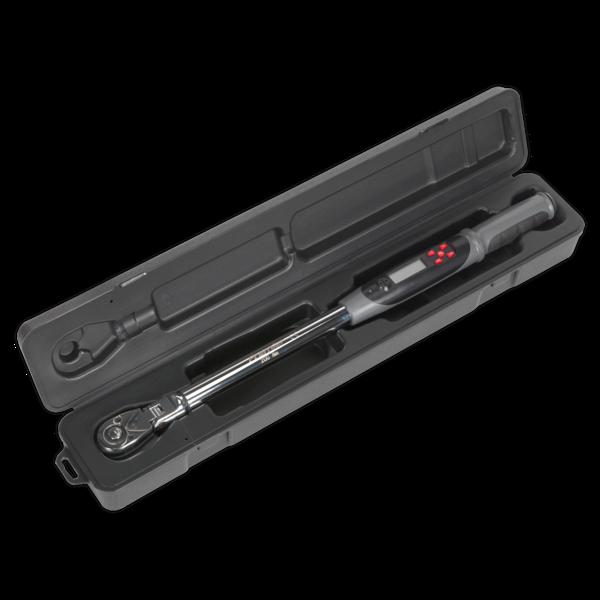 "Sealey Angle Torque Wrench Flexi-Head Digital 1/2""Sq Dr 20-200Nm/14.7-147.5lb.ft Thumbnail 5"