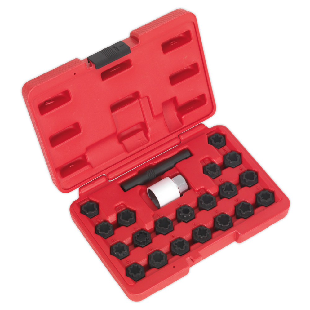Sealey SX206 Locking Wheel Nut Key Set 22pc Audi