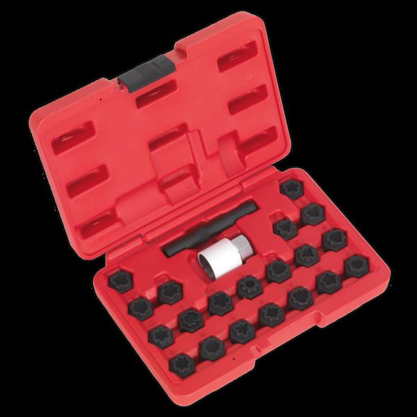 Sealey SX206 Locking Wheel Nut Key Set 22pc Audi Thumbnail 1