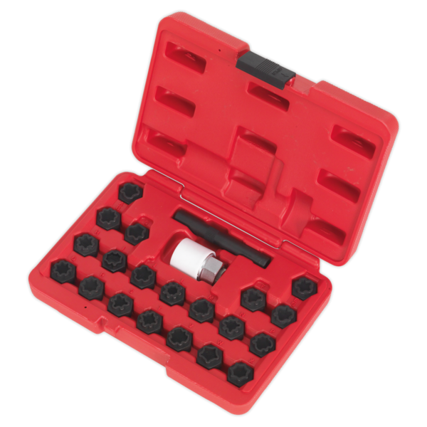 Sealey SX206 Locking Wheel Nut Key Set 22pc Audi Thumbnail 3