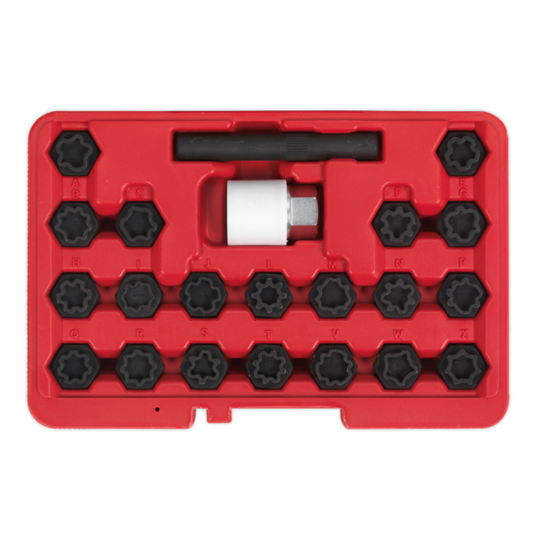 Sealey SX206 Locking Wheel Nut Key Set 22pc Audi Thumbnail 2