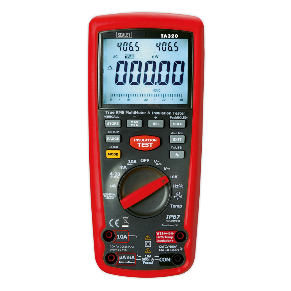 Sealey TA320 Digital Automotive Analyser/Insulation Tester Hybrid Vehicles