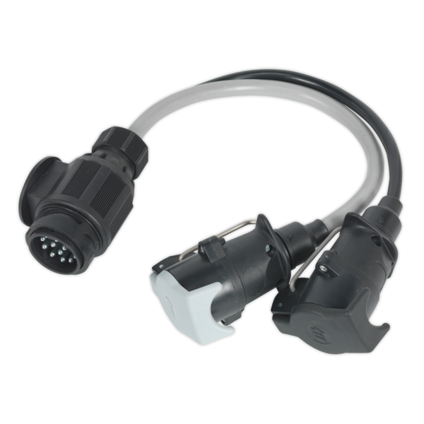 Sealey TB55 Conversion Lead 13-Pin Euro to 7-Pin N & S Type Plugs 12V Thumbnail 1