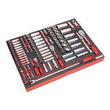 """Sealey TBTP02 Tool Tray with Socket Set 91 Pce 1/4"""", 3/8"""" & 1/2"""" Sq Drive"""