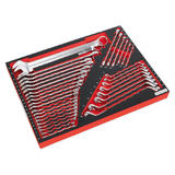 Sealey TBTP03 Tool Tray with Spanner Set 35 Piece