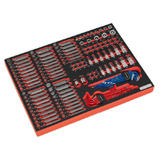 Sealey TBTP07 Tool Tray with Specialised Bits & Sockets (177 Piece)