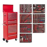 Sealey TBTPCOMBO1 Tool Chest Combination 14 Drawer Red with 446 Piece Tool Kit