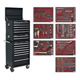 Sealey TBTPCOMBO2 Tool Chest Combination 14 Drawer Black with 446 Piece Tool Kit