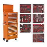 Sealey TBTPCOMBO4 Tool Chest Combination 14 Drawer Orange & 446 Piece Tool Kit