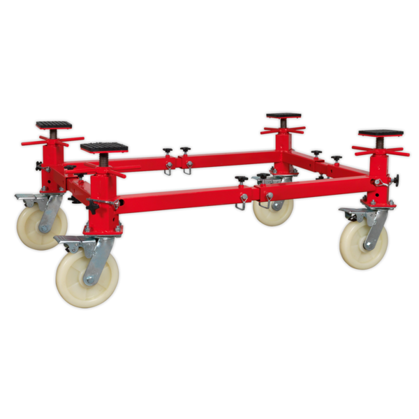 Sealey VMD002 Vehicle Moving Dolly 4 Post 900kg Thumbnail 2