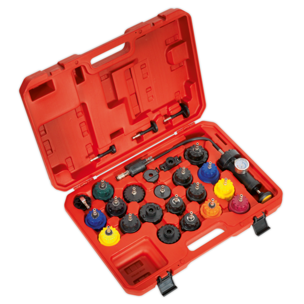 Sealey VS0011 Cooling System Pressure Test Kit 25pc Thumbnail 1
