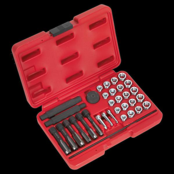 Sealey VS311 Glow Plug Thread Repair Set 33pc Thumbnail 1