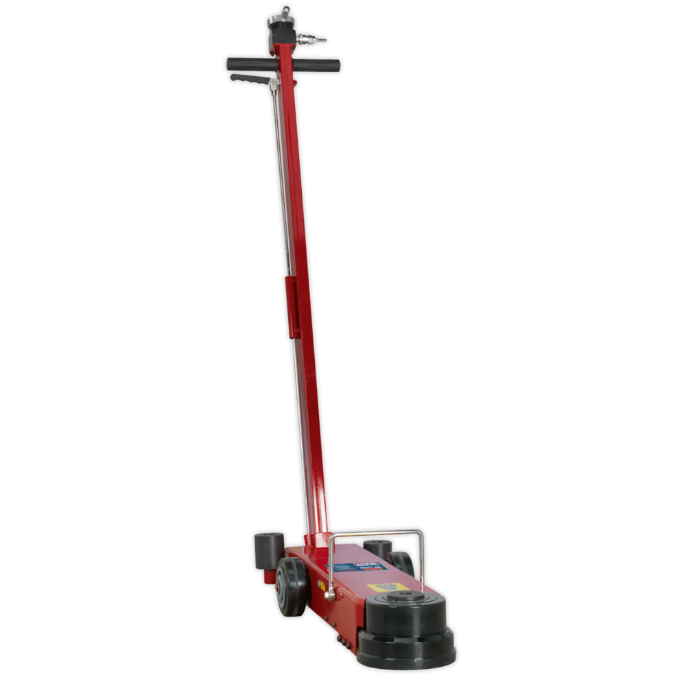 Sealey YAJ10-40LELR Air Operated Jack 40tonne Telescopic Long Reach/Low Entry