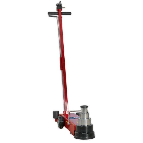 Sealey YAJ10-40LELR Air Operated Jack 40tonne Telescopic Long Reach/Low Entry Thumbnail 2