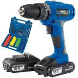 Draper 14602 Storm Force Cordless Hammer Drill (18V) with Bit & Wall Plug Set