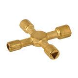 Dickie Dyer 459943 Brass Quad Key