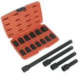 "Sealey Impact Socket Set 1/2"" Sq Drive Metric with Extension Bar Set"