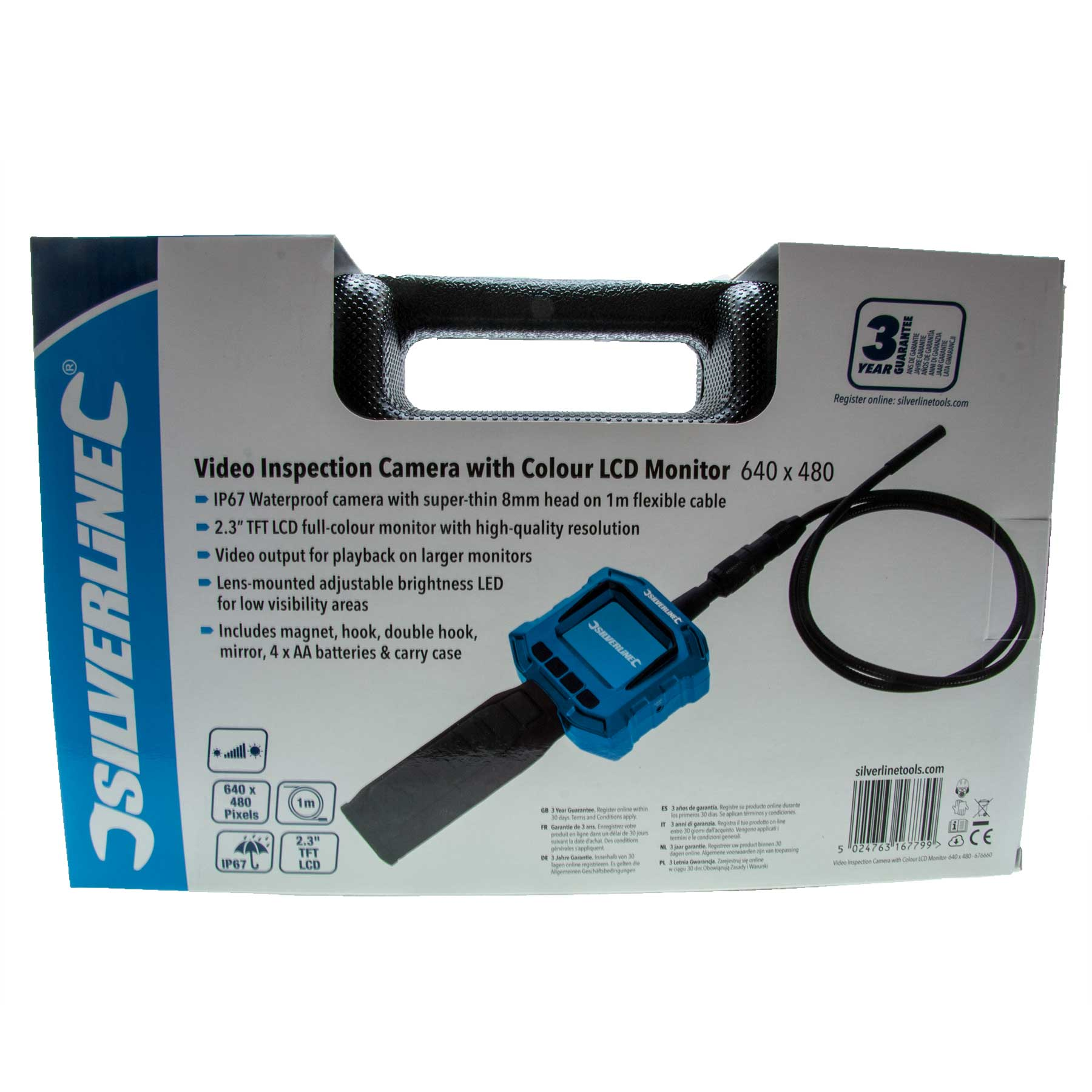 Silverline Video Inspection Camera With Colour LCD Monitor 640 X 480