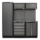 Sealey APMSSTACK02SS Modular Storage System Combo Stainless Steel Worktop
