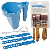 Silverline Paint Kettle with Mixing Sticks, Paint Can/Bottle Opener & Brush Set