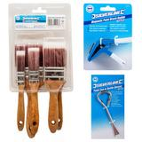 Silverline Paint Brush Set with Magnetic Brush Holder & Paint Tin Opener