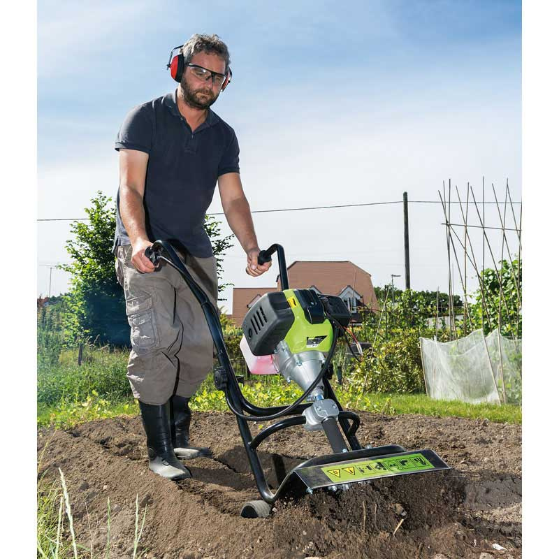 Draper petrol cultivator tiller allotment rotavator for Allotment tools for sale