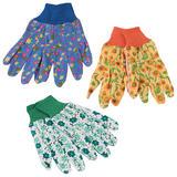 Silverline 896865 Ladies Floral Gardening Gloves Medium (3 Pairs)