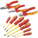 Draper Expert 3 Piece VDE Plier Set with 7 Piece VDE Screwdriver Set
