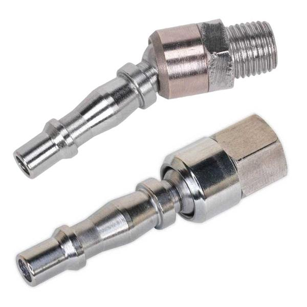 "Sealey Screwed Swivel Adaptors Male 1/4"" BSPT & Female 1/4"" BSP Thumbnail 2"