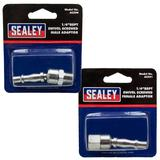 "Sealey Screwed Swivel Adaptors Male 1/4"" BSPT & Female 1/4"" BSP"
