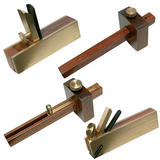Silverline Mini Plane and Gauge Kit Hardwood & Brass (4 Piece)