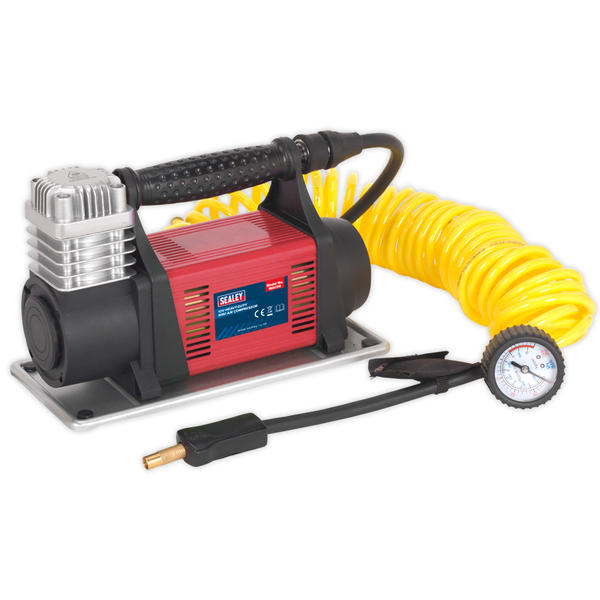 Sealey MAC06 Mini Air Compressor 12V Heavy Duty Thumbnail 1
