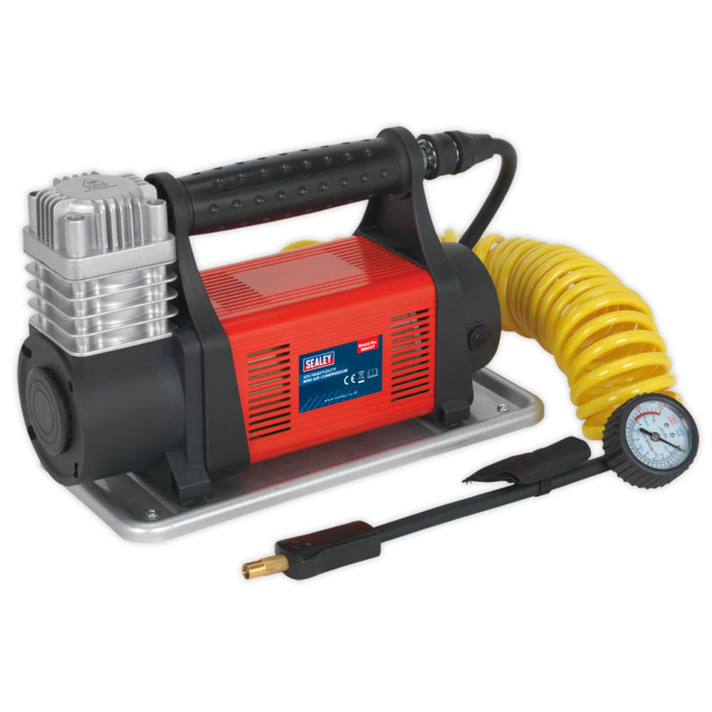 Sealey MAC07 Mini Air Compressor 12V 40A Heavy-Duty