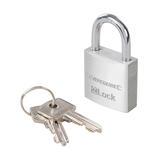 Silverline 536043 Aluminium Padlock 30mm Includes 2 keys